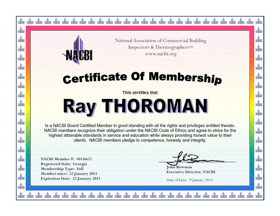 NACBI Certificate