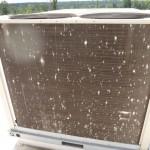 Damaged HVAC coil