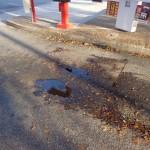 Deterioration parking lot asphalt
