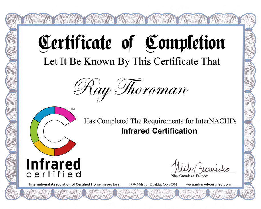 Infrared Certification